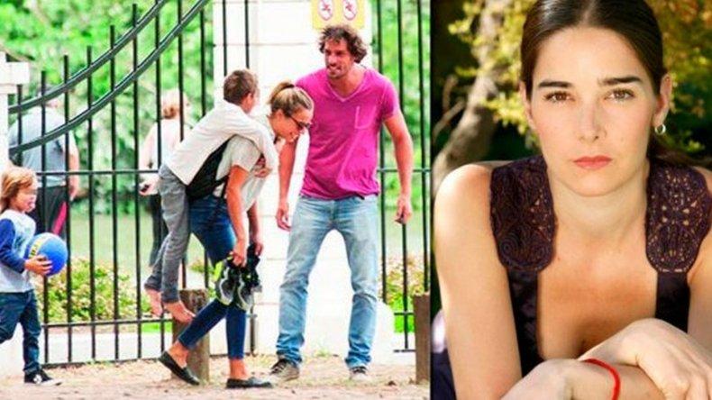 Gonzalo Valenzuela una tarde con su novia y sus hijos