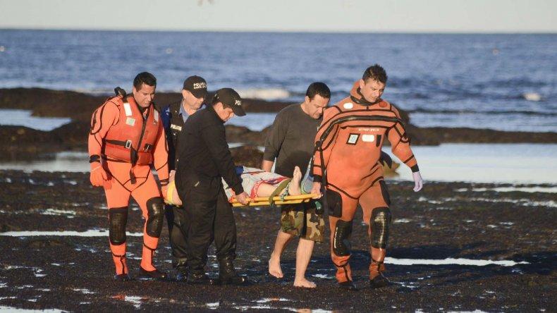 Personal de Prefectura y Policía rescataron el cuerpo de Bolgiano