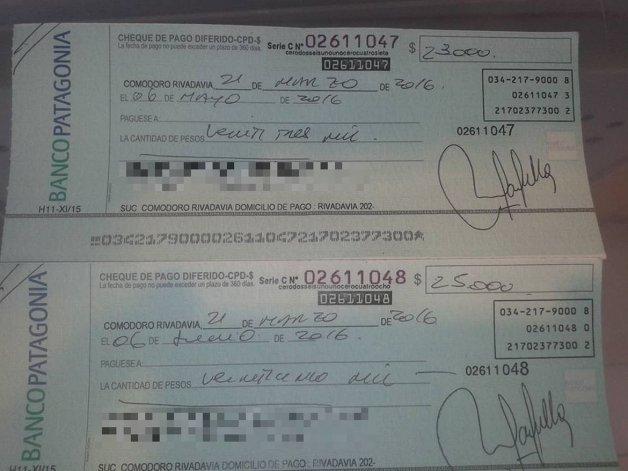 El joven que devolvió dos cheques se encuentra sin trabajo