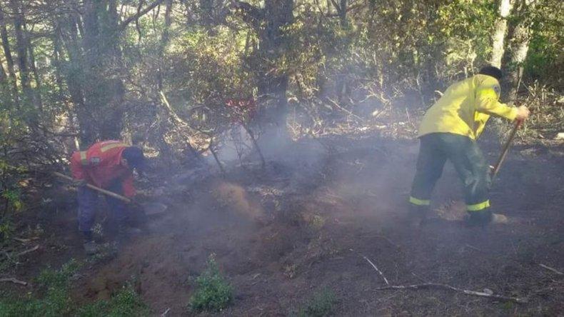 Seis focos activos y clima desfavorable en Río Pico