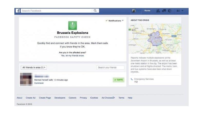 Facebook permite informar si sus usuarios están bien después de los atentados