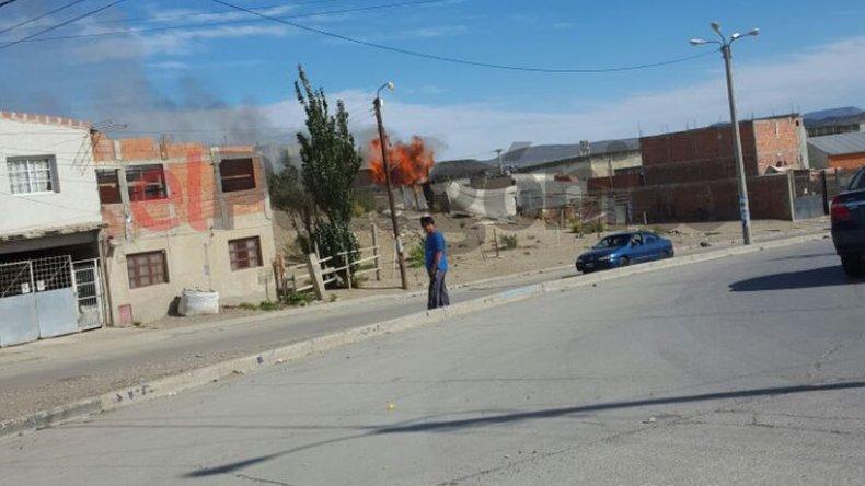 Se incendió la casa donde vivía Tamara Copa