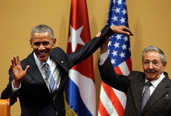 Obama cerró su visita a Cuba con un fuerte reclamo al Congreso de su país para que levante el bloqueo.