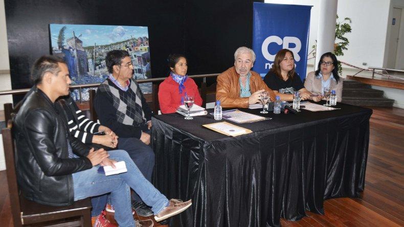 La conferencia de prensa donde se anunciaron las actividades.