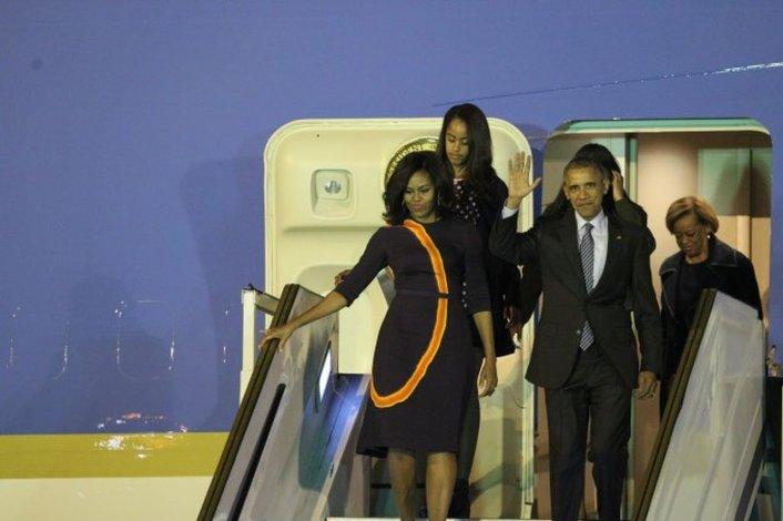 Así llegó Obama a la Argentina en medio de un fuerte operativo de seguridad