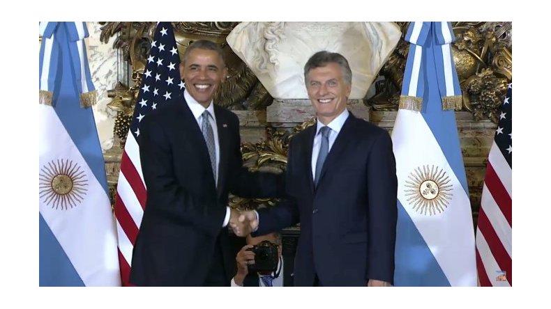 Obama y Macri ya están reunidos en la Casa Rosada