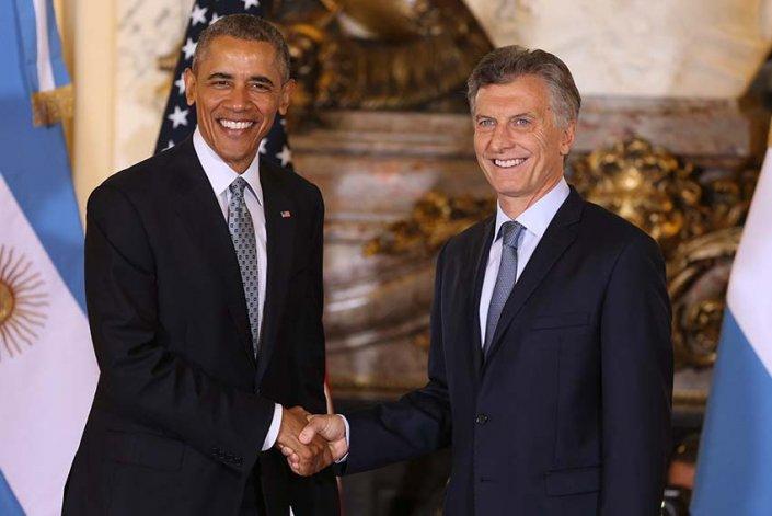 Obama y Macri brindaron una conferencia de prensa conjunta.
