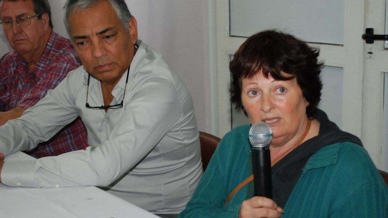 Mónica Rampoldi brindó una conferencia de prensa en la víspera del Día de la Memoria