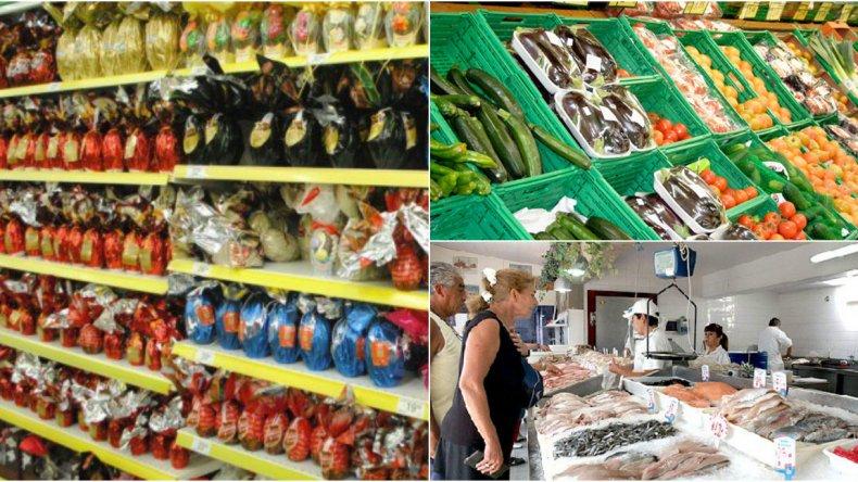 Aumento de precios y poca venta de huevos de pascua, pescados y verduras