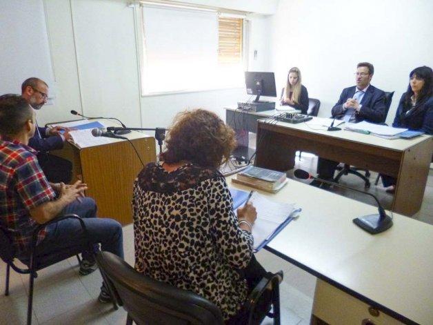 Luis Bravo Orderique en la audiencia de control en la que los jueces Alejandro Soñis y Mariel Suárez ratificaron su prisión preventiva.