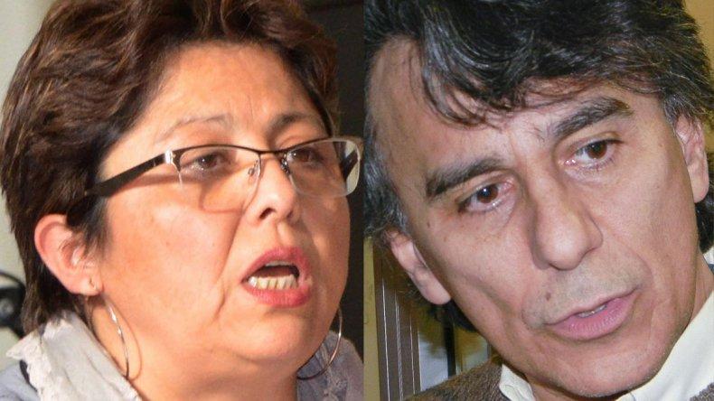 Viviana Navarro (Frente para la Victoria)/ Eduardo Conde (Cambiemos).