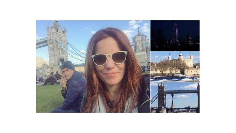 Agustina Kämpfer y Jorge Rial, de paseo en Londres