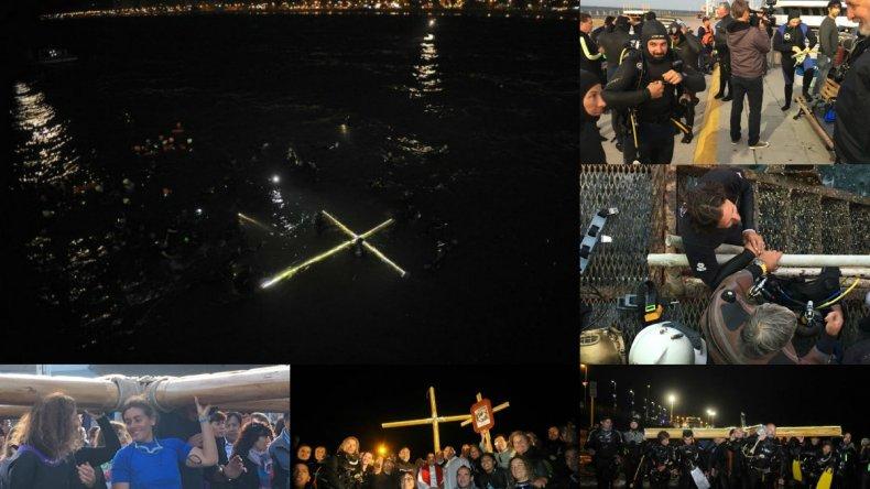 El  Vía Crucis Submarino llenó de fe las aguas del Golfo Nuevo