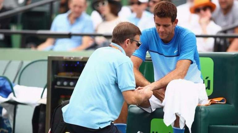 Del Potro evitó a Federer pero perdió ante Zeballos