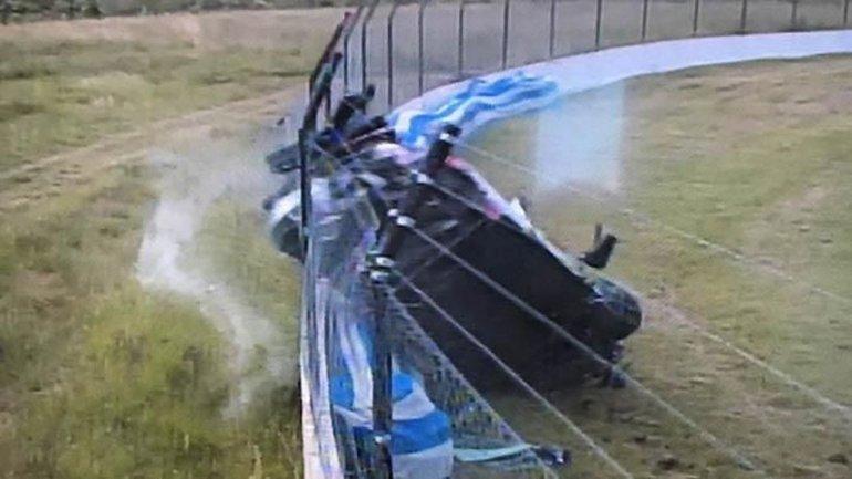 El terrible vuelco de Scalbi a más de 200 km/h en Concordia