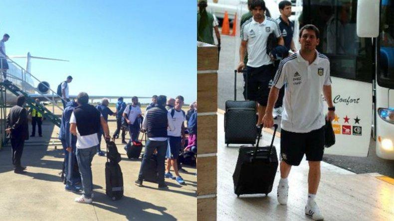 La selección llegó a Córdoba para jugar frente a Bolivia
