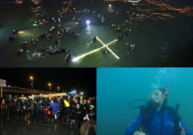 Una campeona mundial participó del Viacrucis Submarino ¿De quién se trata?