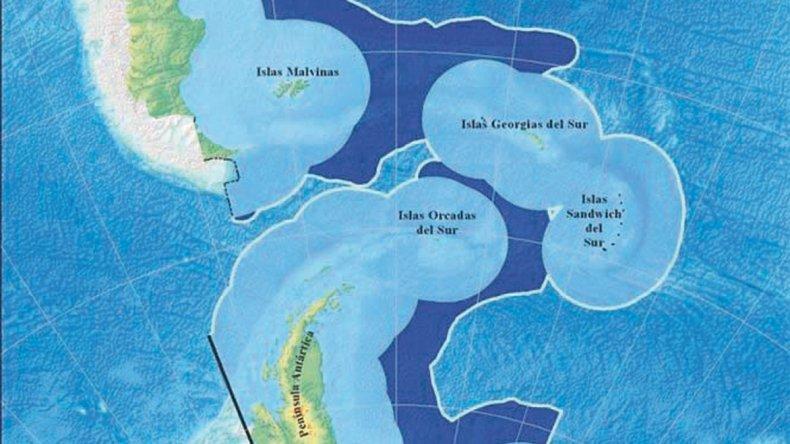 Argentina expande su plataforma marítima.