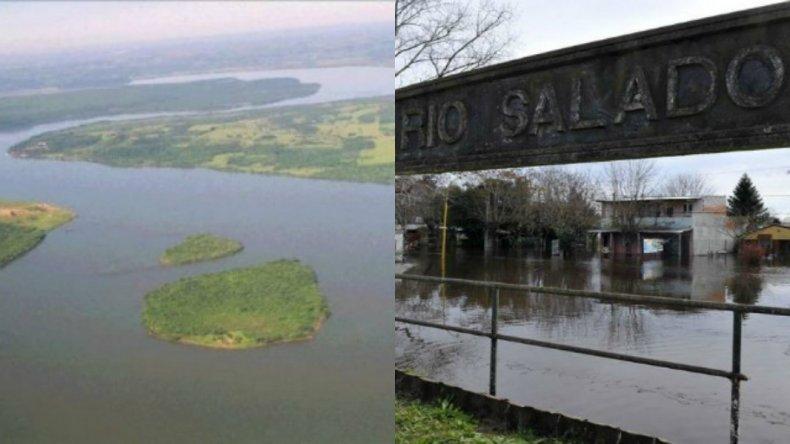 558 evacuados por la crecida de los ríos Paraná y Salado