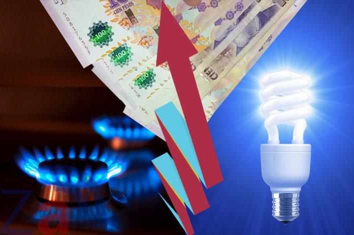 Fuertes aumentos en el gas y el agua