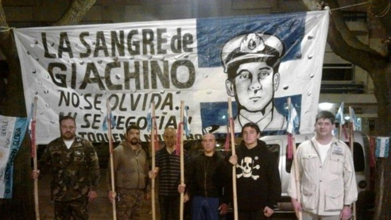 En Mar del Plata una agrupación neonazi lleva el nombre de Giachino