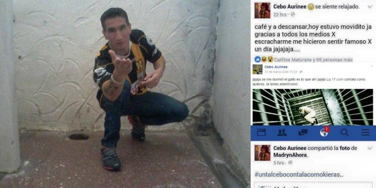 El preso que no fue a la audiencia para poder dormir agradeció su fama en Facebook
