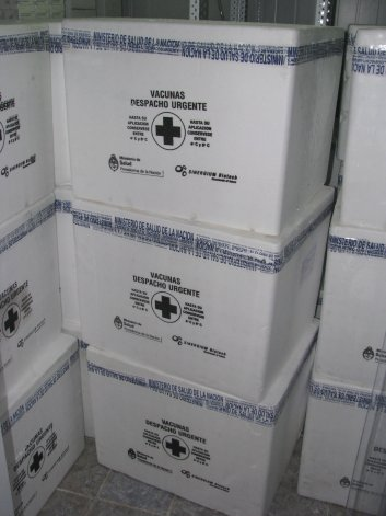 Chubut recibió el primer lote de vacunas antigripales que ayer fueron repartidas a cada Area Programática de Salud de la provincia.