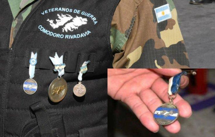 Piden ayuda para encontrar la medalla de un veterano de Malvinas
