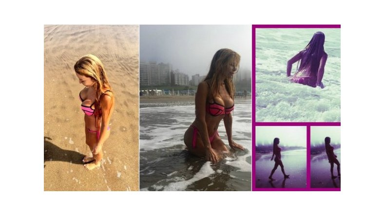 Graciela Alfano, sin photoshop en la playa
