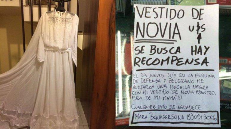 Llegó de Italia para casarse, le robaron el vestido y lo busca por redes sociales
