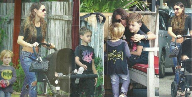 Mirá las fotos del fin de semana de Pampita con sus hijos