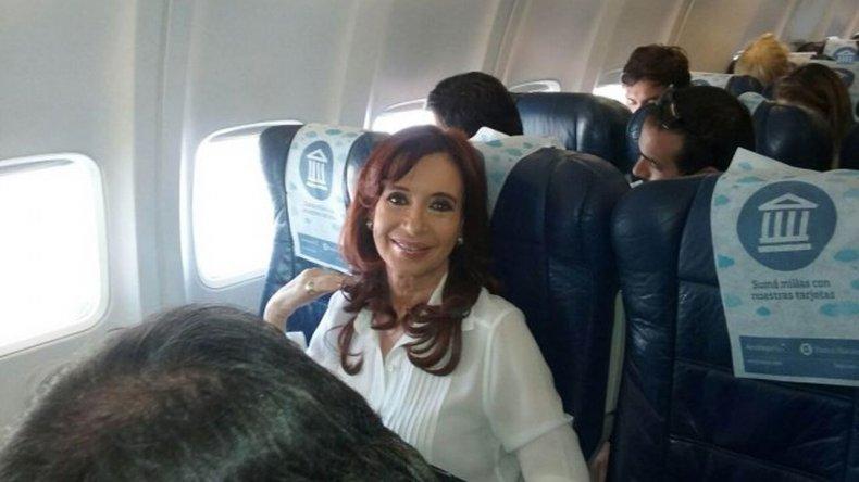 Cristina Kirchner está viajando a Buenos Aires