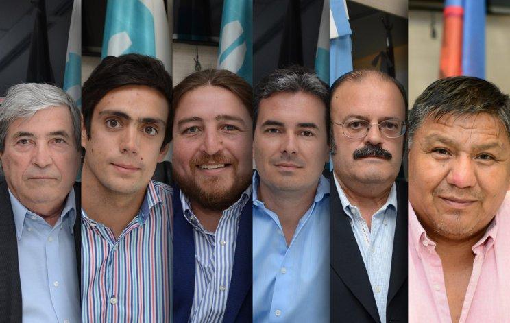 Los representantes de Petrominera de izquierda a derecha: Rafael Cambareri