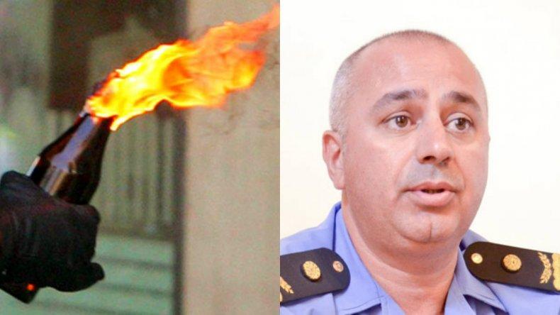 Tiraron una molotov al auto de la sobrina del comisario Pulley