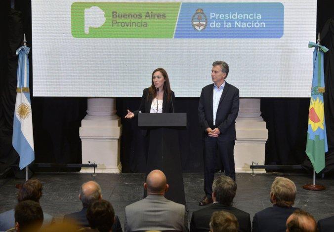 Vidal y Macri brindaron una conferencia de prensa conjunta.