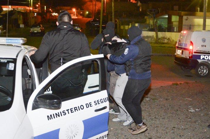 Andrés Carrizo en el momento de ser detenido el año pasado. Fue condenado a ocho años de prisión de cumplimiento efectivo.