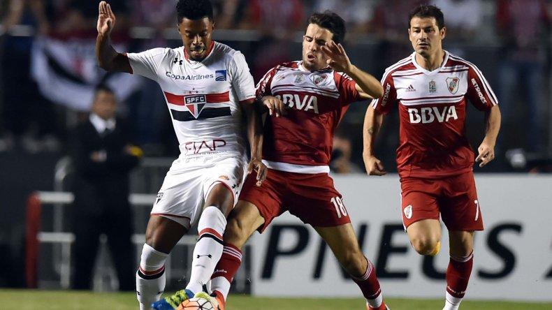 River luchó hasta el final en un partido donde San Pablo aprovechó las mejores ocasiones.