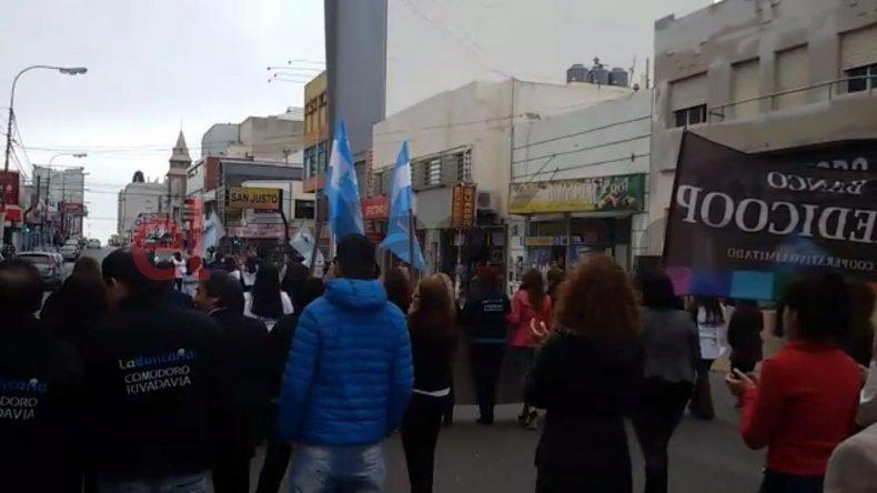 Bancarios se movilizaron en Comodoro