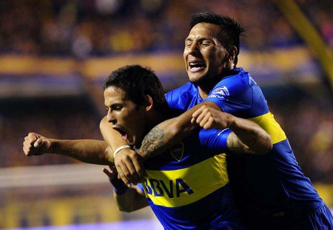 Boca se cansó de festejar ayer en La Bombonera.