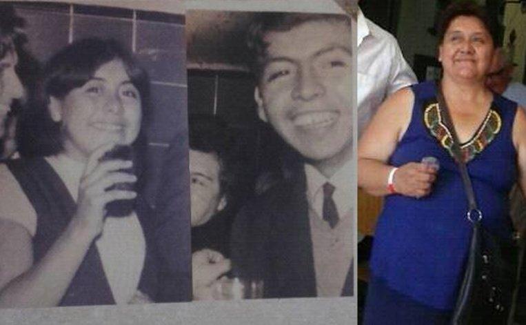 Clarisa y Ricardo Ochoval en su juventud (izq). Clarisa hoy (der).