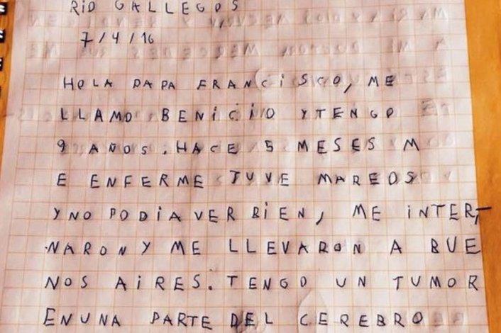 Francisco se comunicó con un niño enfermo de Río Gallegos
