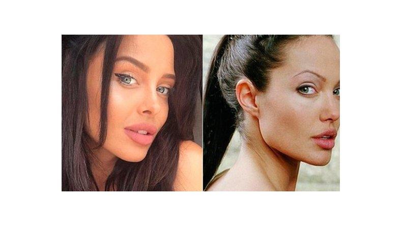 La doble de Angelina Jolie que revoluciona las redes sociales