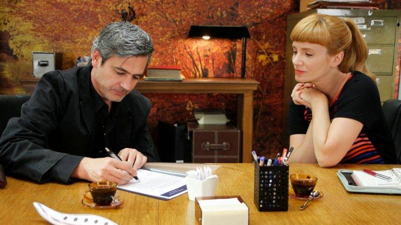 Edgardo Castro y Griselda Siciliani en una escena de Farsantes (Canal 13).
