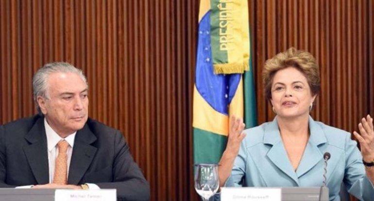 Dilma partió a EE. UU. y dejó el gobierno en manos de su enemigo Temer.