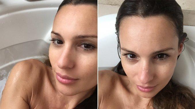 Las fotos infartantes de Pampita en la bañera