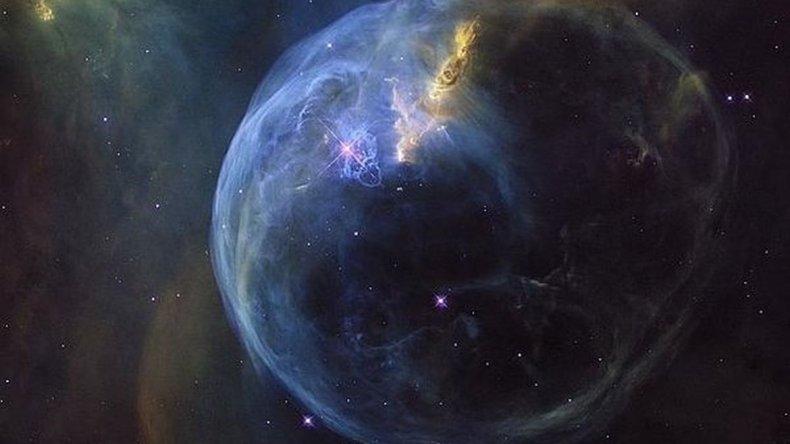Impresionante fotografía de una burbuja gigante en el espacio