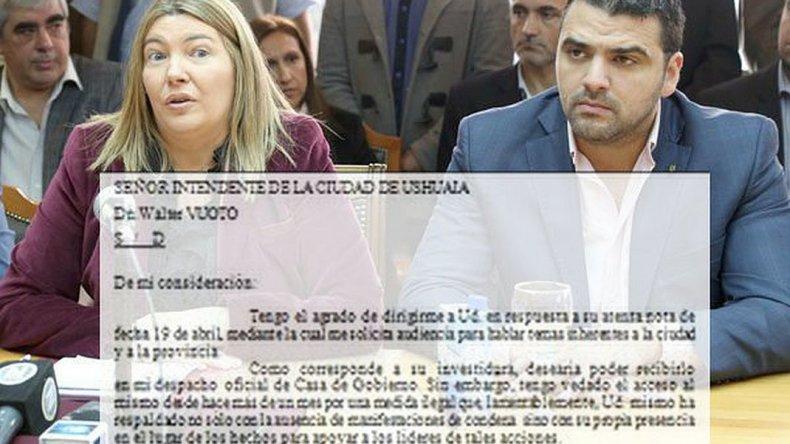 Bertone le negó audiencia a un intendente por tener vedado el acceso a su despacho