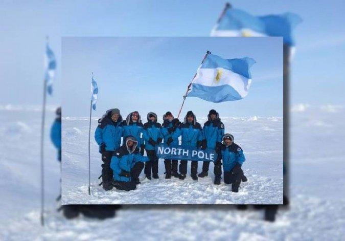 Llegó al Polo Norte la primera expedición argentina