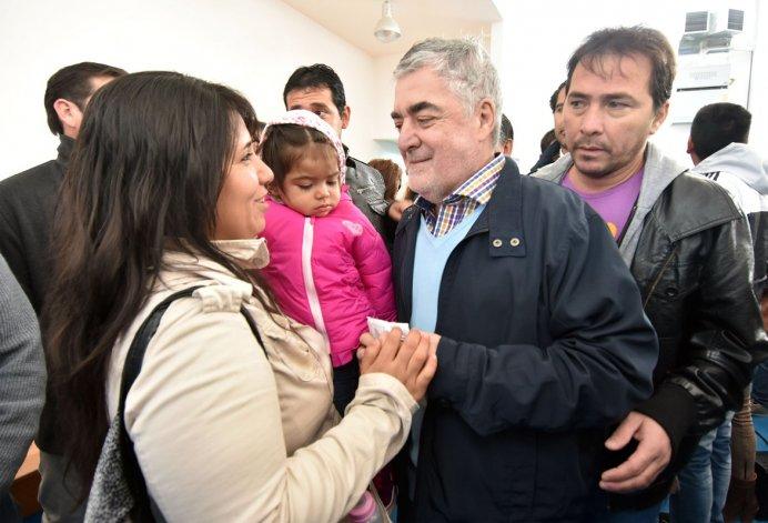El gobernador Mario Das Neves y el intendente de Trelew