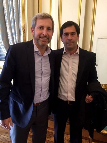 Juan Pablo Luque junto al ministro del Interior